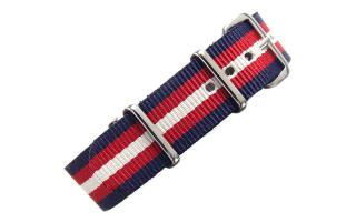 Navy/Red/Cream NATO - 18mm