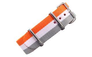 Orange/White/Grey NATO - 20mm
