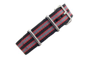 Black/Red/Grey NATO - 18mm