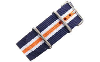 Navy/White/Orange NATO - 24mm