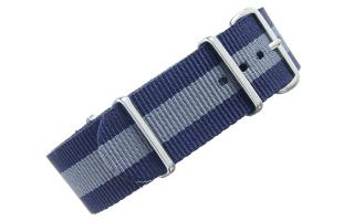 Navy & Grey NATO - 22mm