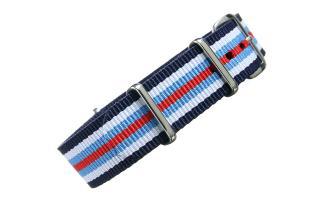 Navy/White/Blue/Red NATO - 18mm