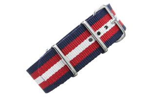 Navy/Red/Cream NATO - 22mm