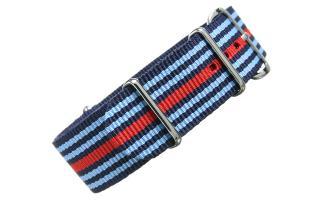 Navy/Blue/Red NATO - 22mm