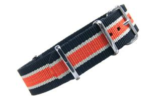 Black/Cream/Orange NATO - 20mm