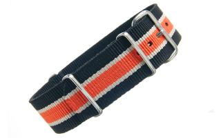Black/Cream/Orange NATO - 22mm