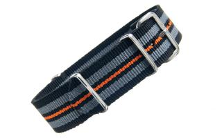 Black/Grey/Orange NATO - 20mm