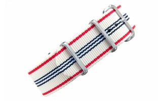 Cream Multi Stripe NATO - 22mm