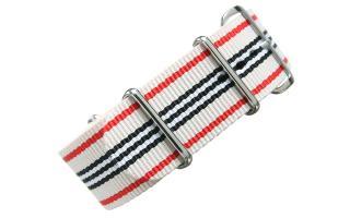 Cream Multi Stripe NATO - 24mm
