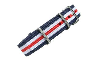 Navy/White/Red NATO - 16mm