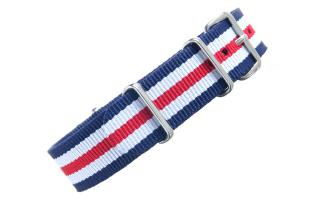Navy/White/Red NATO - 18mm