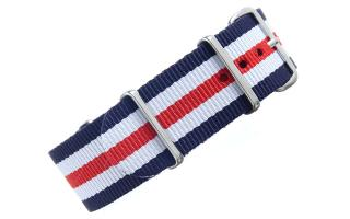 Navy/White/Red NATO - 22mm