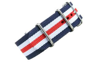 Navy/White/Red NATO - 24mm