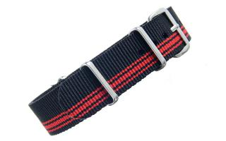 Black & Red NATO - 18mm