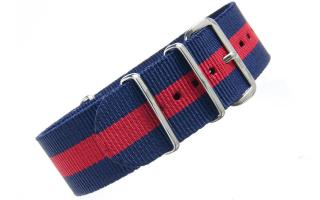 Navy & Red NATO - 24mm