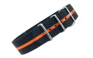 Black & Orange NATO - 18mm