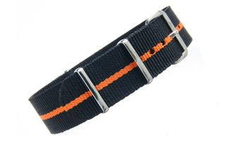 Black & Orange NATO - 20mm