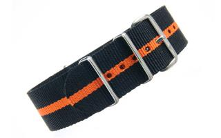 Black & Orange NATO - 22mm