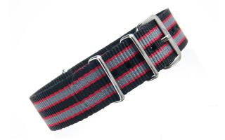 Black/Red/Grey NATO - 20mm