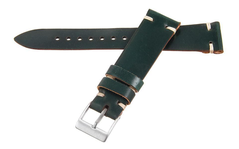 Green Shell Cordovan 2-Stitch 20mm