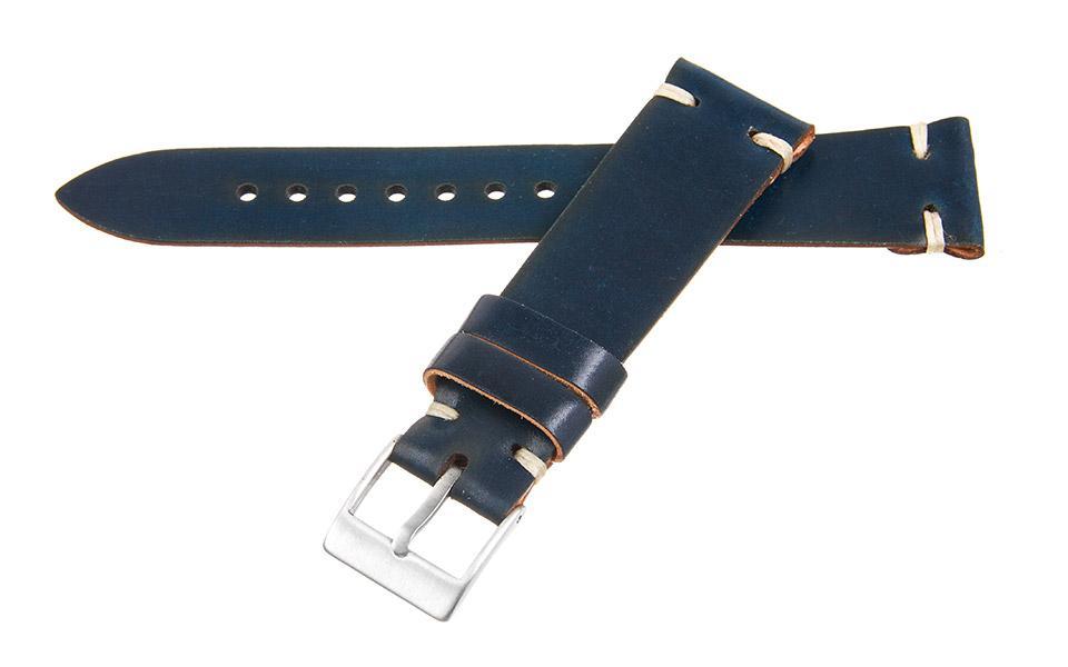 Navy Shell Cordovan 2-Stitch 20mm