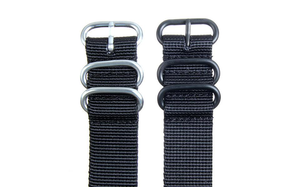 Black HD NATO - 22mm Ballistic Nylon