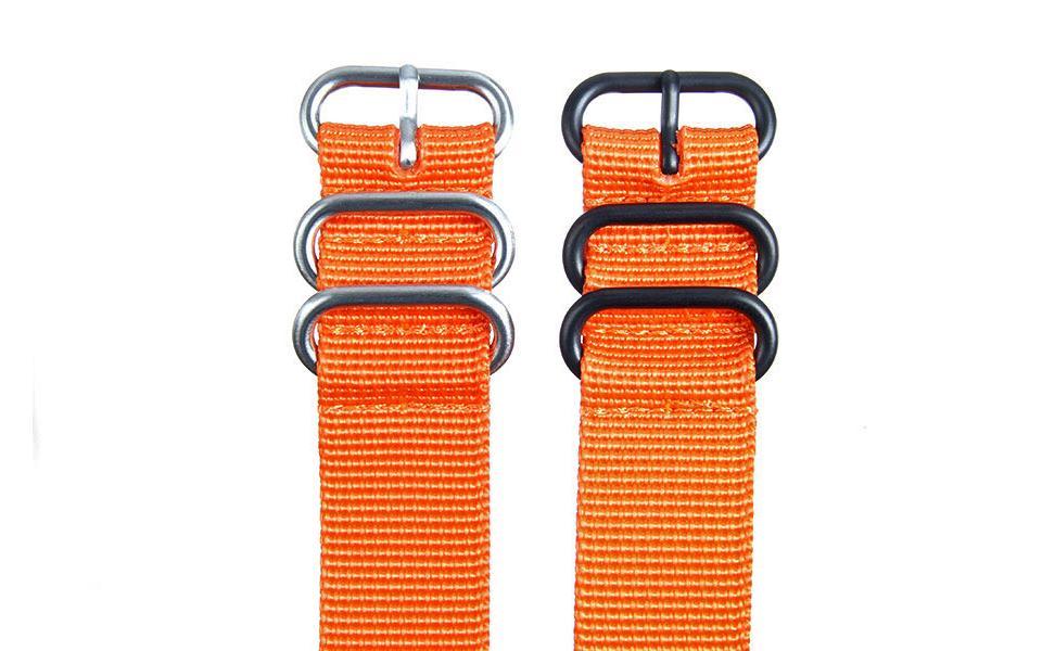 Orange HD NATO - 22mm Ballistic Nylon