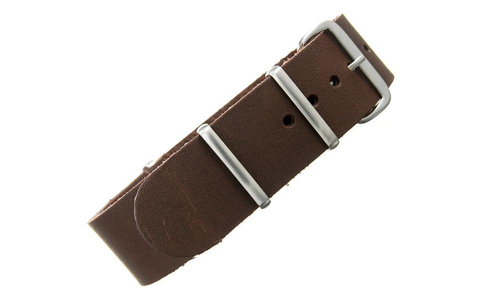 Walnut Bridle Leather NATO - 22mm