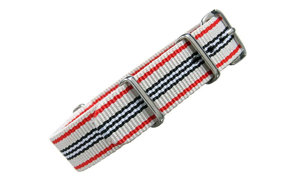Cream Multi Stripe NATO - 16mm