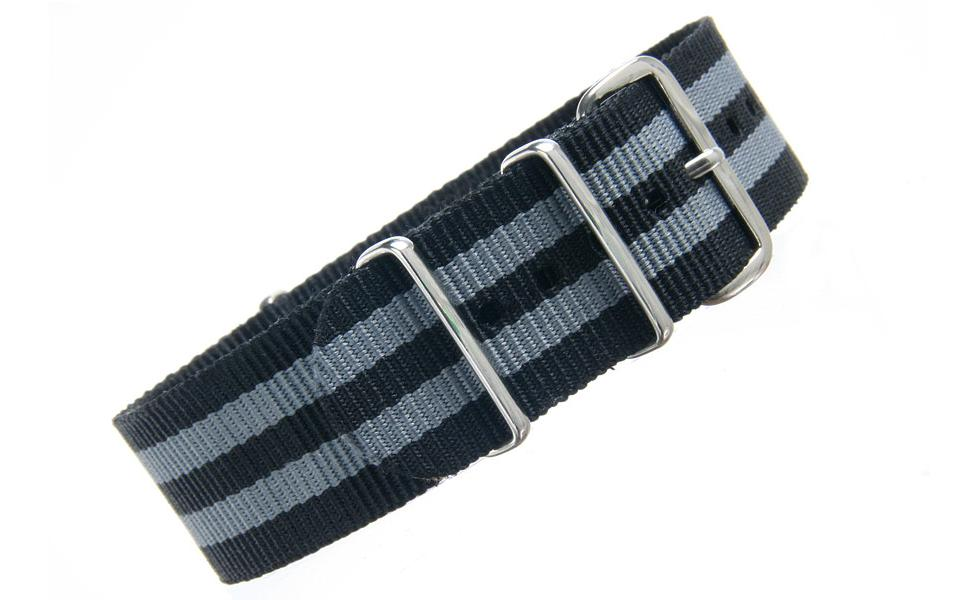 Black & Grey NATO - 22mm